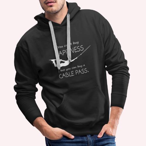 Happy Wakeboarder - Männer Premium Hoodie