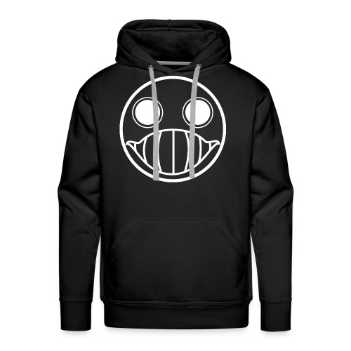 Crazy Cringe Smiley (white) - Männer Premium Hoodie
