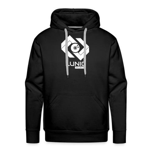Lunic Music Logo (Weiß) - Männer Premium Hoodie