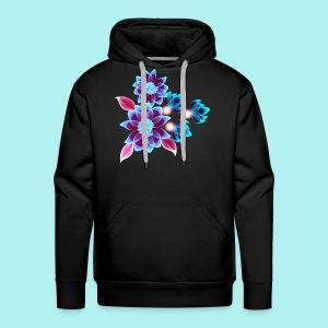Hypnotic flowers - Sweat-shirt à capuche Premium pour hommes