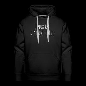 J'PEUX PAS, J'AI UNE COLLE [BLANC] - Sweat-shirt à capuche Premium pour hommes