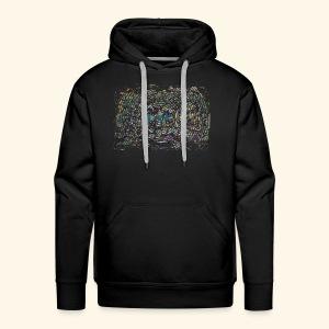 Street Art hypnotique - Sweat-shirt à capuche Premium pour hommes