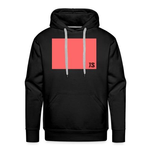 JustSquares Roze - Mannen Premium hoodie