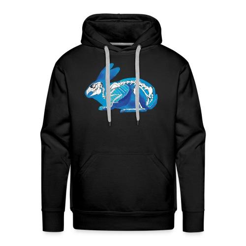 Le lapin bleu - Sweat-shirt à capuche Premium pour hommes