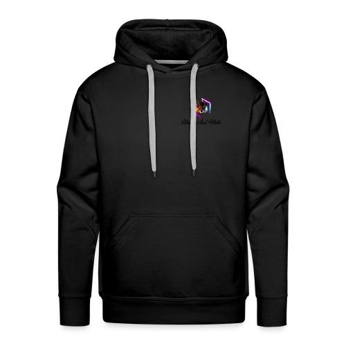Logo Black And White Lato Destro - Felpa con cappuccio premium da uomo