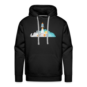 XRP Crypto To the moon and beond! - Men's Premium Hoodie