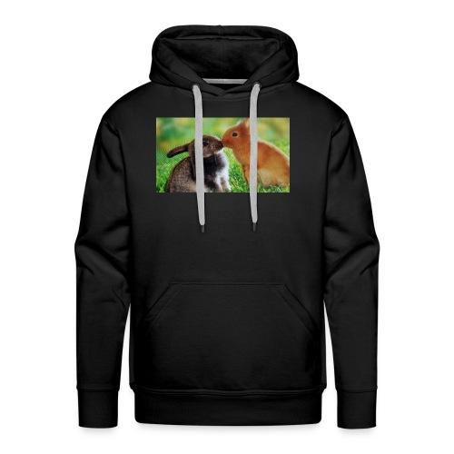 Zwilling kaninchen T-shirt - Männer Premium Hoodie