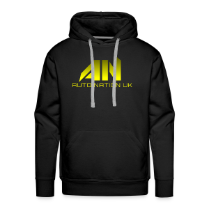 Laser Lemon Yellow - Original Logo - Men's Premium Hoodie