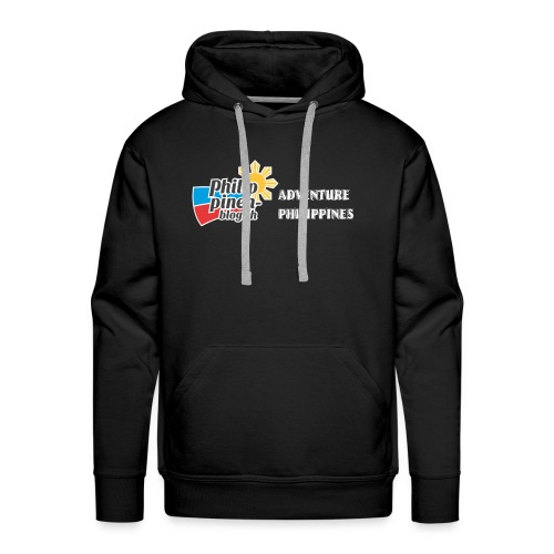 Philippinen-Blog Logo english schwarz/weiss - Männer Premium Hoodie