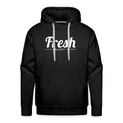 white logo - Men's Premium Hoodie