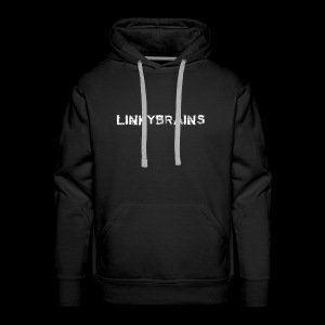 linkybrainswhitetext - Men's Premium Hoodie