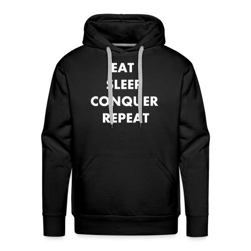 EAT SLEEP CONQUER REPEAT - Sweat-shirt à capuche Premium pour hommes