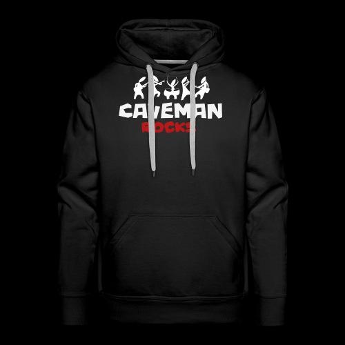 Caveman weisses logo - Männer Premium Hoodie