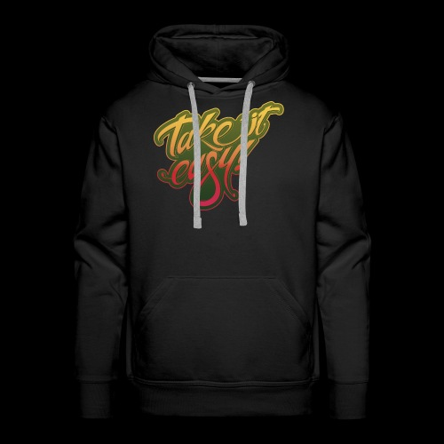 Take it easy yellow-red - Männer Premium Hoodie