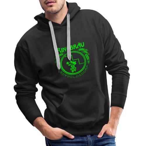 ringbraeu green scanline - Männer Premium Hoodie