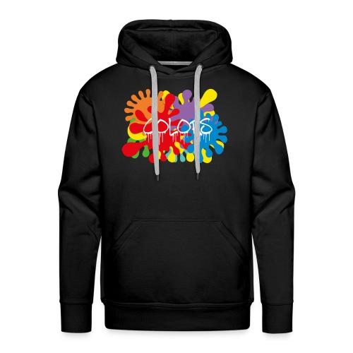 COLORS TACHES - Sweat-shirt à capuche Premium pour hommes