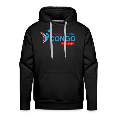 Kinshasa ma ville Congo mon pays - Sweat-shirt à capuche Premium pour hommes