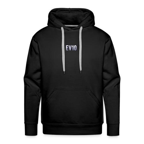 EV10 LOGO - Felpa con cappuccio premium da uomo