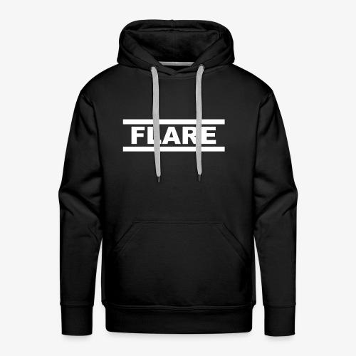 Black Hoodie - White logo - FLARE - Mannen Premium hoodie