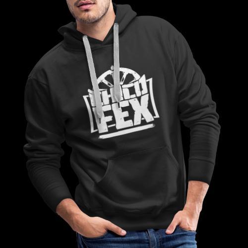 chicofex logo weiss4000px ai - Männer Premium Hoodie