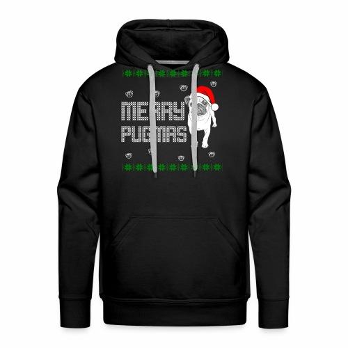 Merry Pugmas - Männer Premium Hoodie
