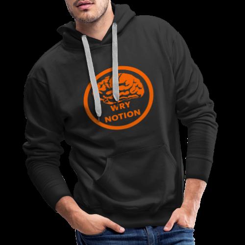 WRYNOTION Brain Logo - Männer Premium Hoodie