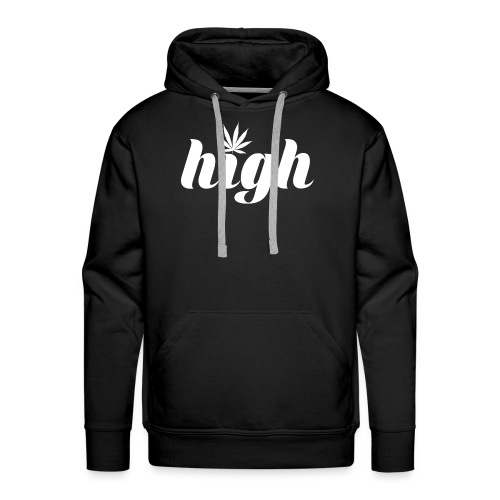 High sign with cannabis leaf - Men's Premium Hoodie