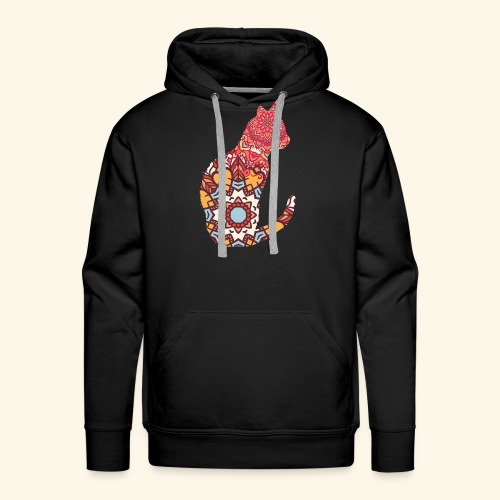 Cat Mandala Design - Männer Premium Hoodie