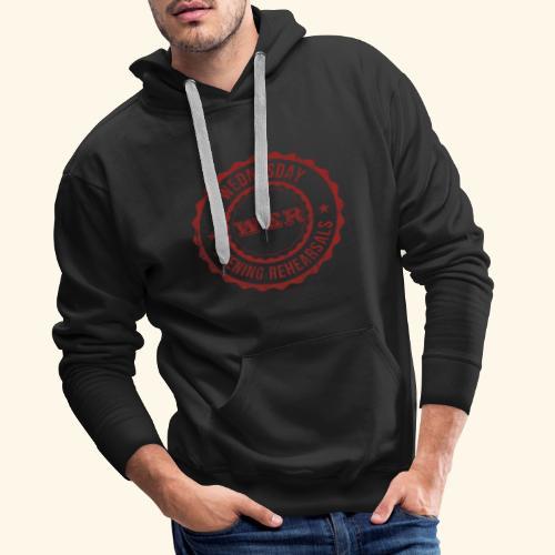 WER OFFICIAL RED - Sweat-shirt à capuche Premium pour hommes