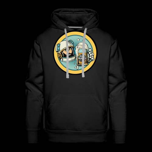Astronaut With Beer - Men's Premium Hoodie