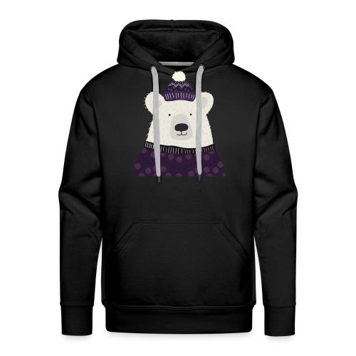 Eisbär Winter - Männer Premium Hoodie