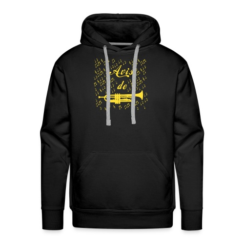 AVIS DE TROMPETTE ! - Jeux de mots -Francois Ville - Sweat-shirt à capuche Premium pour hommes