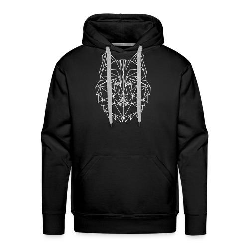 Lone Wolf Geometric - Männer Premium Hoodie