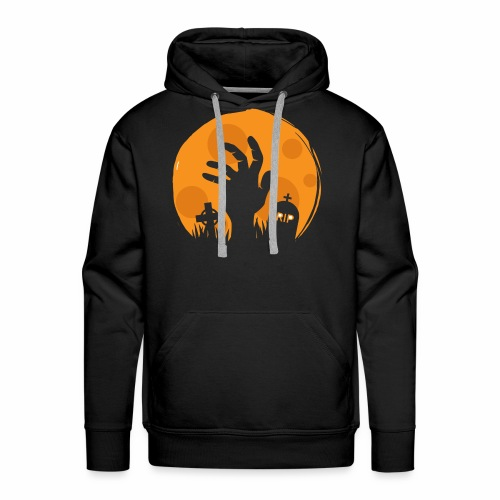 Gruseliges Halloween Design Hand Friedhof Geschenk - Männer Premium Hoodie
