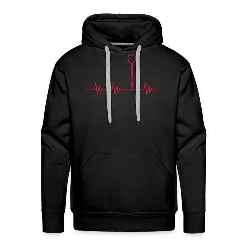 Puls Herzschlag Dart - Männer Premium Hoodie