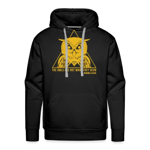 THE OWLS ARE NOT WHAT THEY SEEM - RADIOLEVANO - Felpa con cappuccio premium da uomo