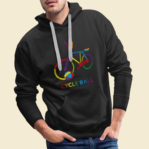 Radball | Cycle Ball Rainbow - Männer Premium Hoodie