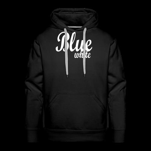 Blue White - Men's Premium Hoodie