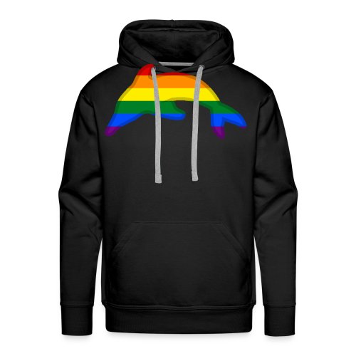 Gay / Rainbow Dolphin - Men's Premium Hoodie