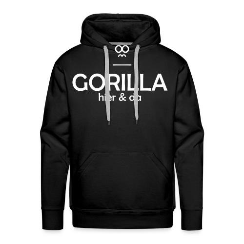Gorilla hier & da Logo - Männer Premium Hoodie