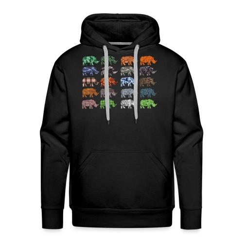 Multi Rhino - Men's Premium Hoodie