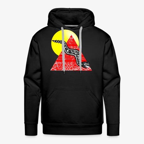 serpent et pyramide sous le soleil - Sweat-shirt à capuche Premium pour hommes