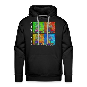 Animal Tube In Your Head Text Weiß - Männer Premium Hoodie