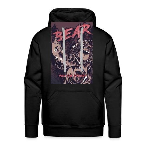 Face Bear Fuck Off - Sweat-shirt à capuche Premium pour hommes
