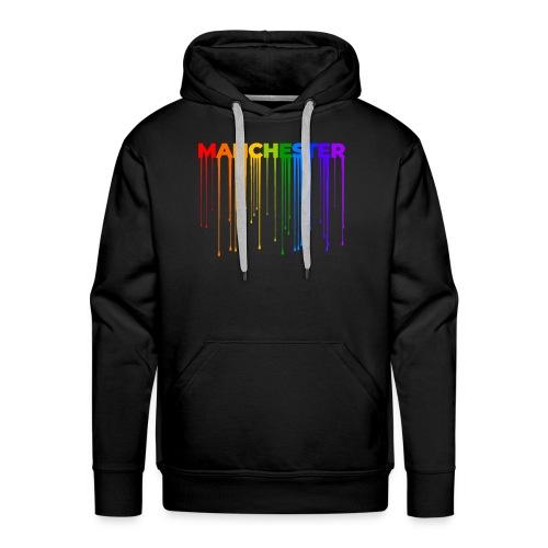 Manchester Dripping Rainbow - Men's Premium Hoodie