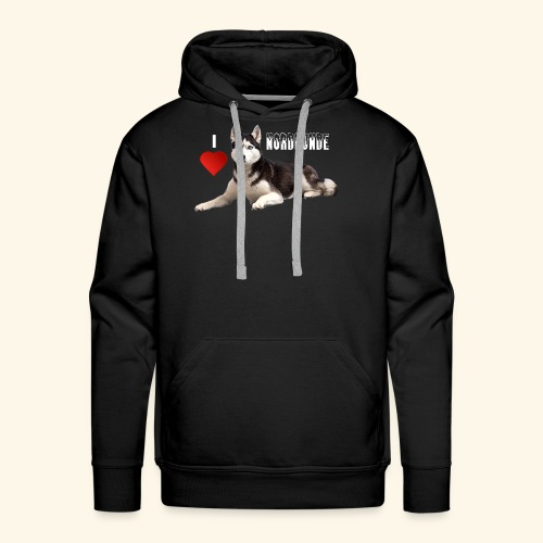 husky 08 weiss - Männer Premium Hoodie