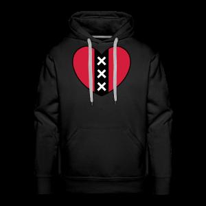 Hart met het symbool van de stad Amsterdam - Mannen Premium hoodie
