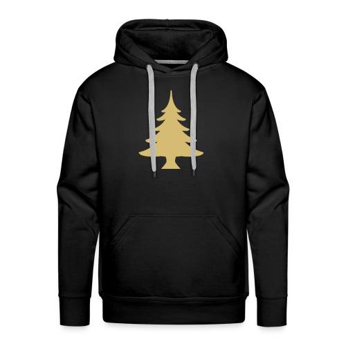 Weihnachtsbaum Christmas Tree Gold - Bluza męska Premium z kapturem
