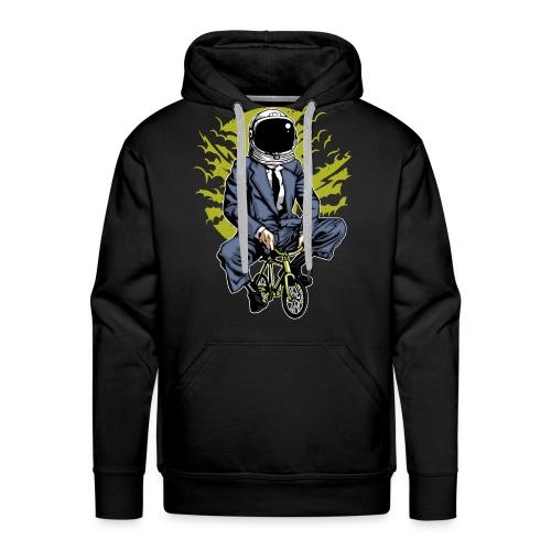 MOND RADLER - Kosmonauten Radfahrer Geschenk Shirt - Männer Premium Hoodie