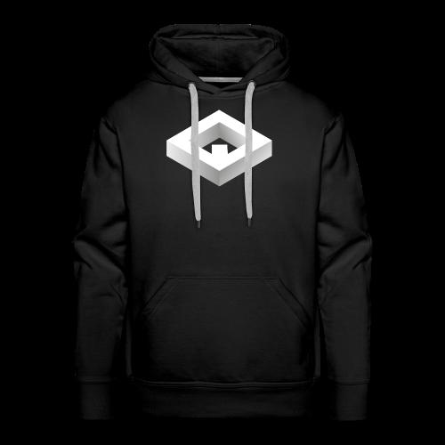 Black 3D Q-WHITE T-Shirt - Felpa con cappuccio premium da uomo